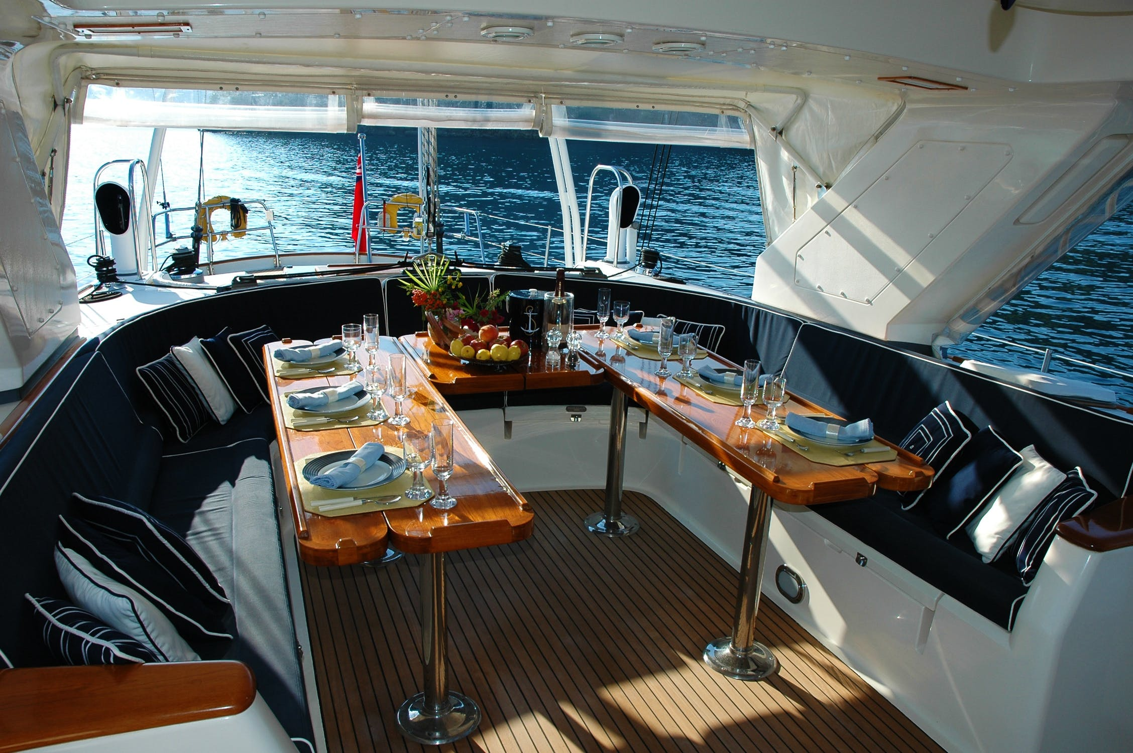 Invite your guests to dine virtually from international waters on your private yacht!