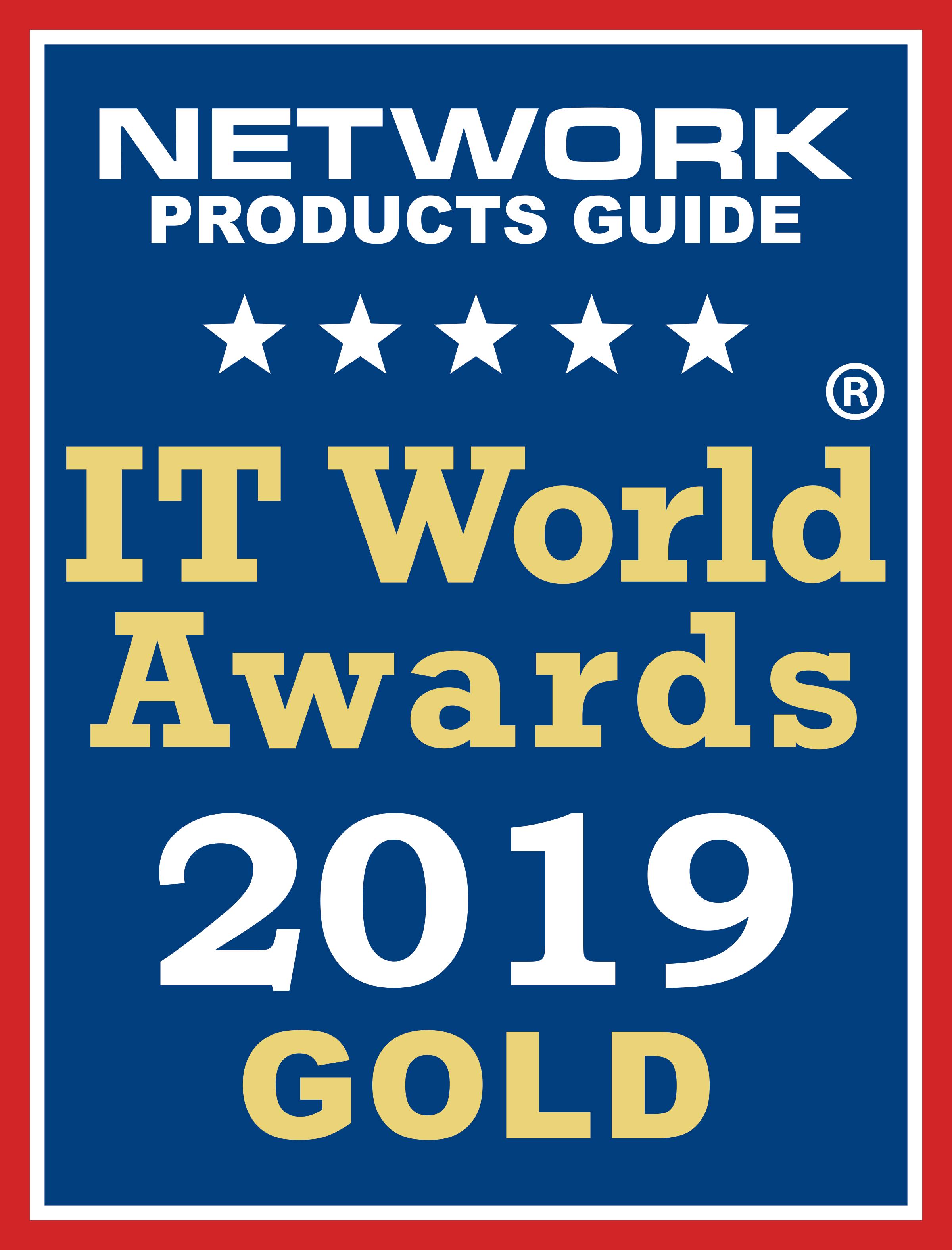 AppNeta has taken GOLD in the Hot Technology & Solution of the Year | Information Technology Cloud/SaaS category of the Network Product Guide IT World Awards 2019
