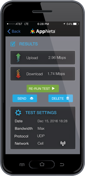 AppNeta Performance Manager is available as a mobile app for mobile phones