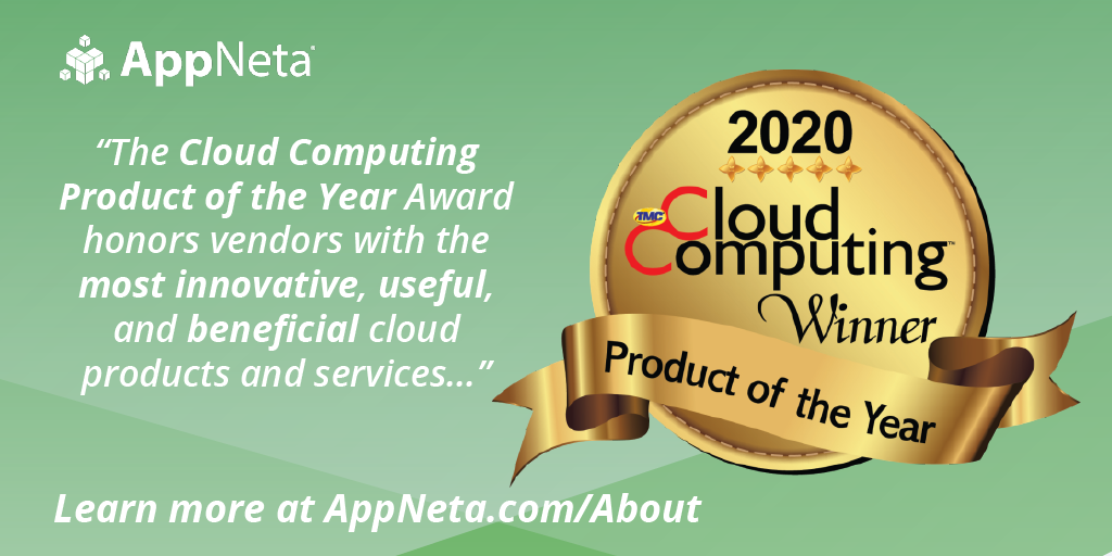 AppNeta Wins 2020 Cloud Computing Product of the Year Award